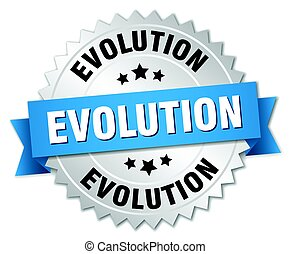 evolution round isolated silver badge
