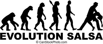 Evolution salsa dancing