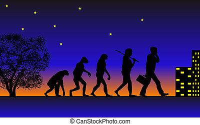 Evolution - Abstract vector illustration of evolution