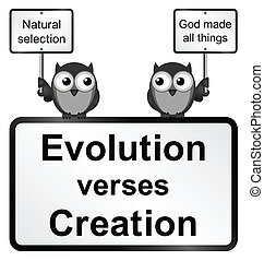 Evolution verses Creation - Monochrome Evolution verses...