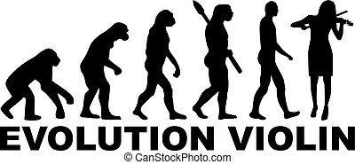 Evolution Violin player