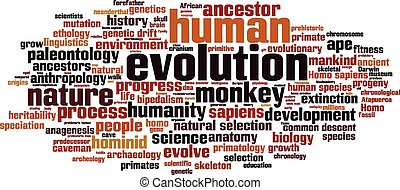Evolution word cloud