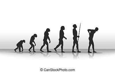 Evolution2 - illustration of human evolution and back...