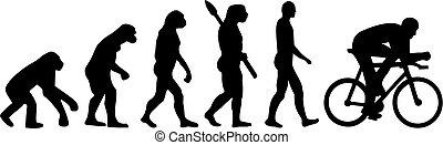 evolutionsphasen, fahrrad, radfahren