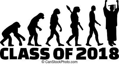 evoluzione, classe, graduazione, 2018