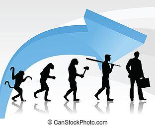 evoluzione, di, il, person2