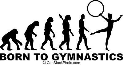 evoluzione, ginnastica, cerchio