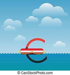 evro, monnaie, croissance, en mouvement, européen