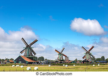 evropa, konzervativní, tradiční, dávný, holandsko, klasik, ...