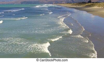 ew Briton Beach Christchurch - New Briton Beach on the east...