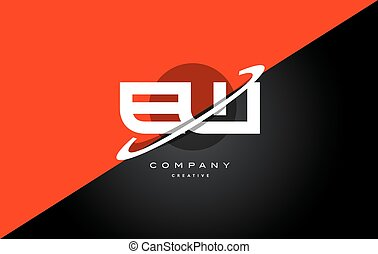 ew e w red black white technology swoosh alphabet company letter logo design vector icon template