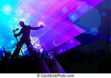 exécuter, concert musique, rockstar