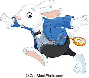 exécuter lapin, blanc