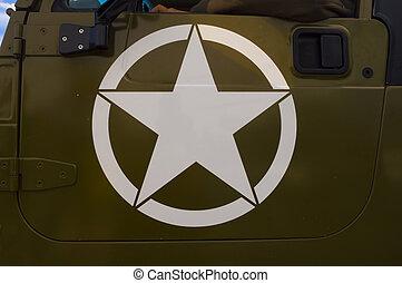 exército, carro equipe funcionários