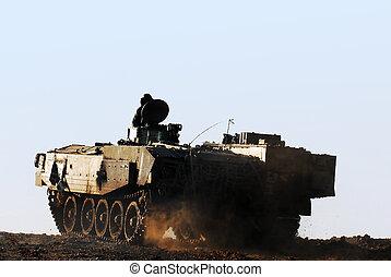 exército, e, tanque