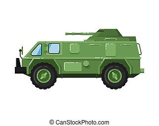 exército, modernos, caminhão, isolado, ícone