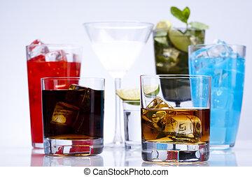 exótico, alcohol, bebidas