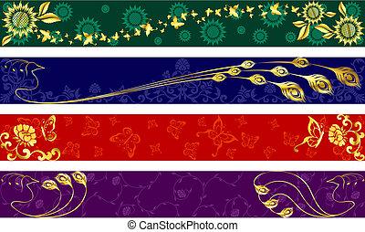 exótico, banderas, verano