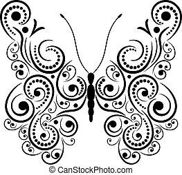 exótico, butterfly.
