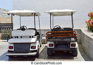 exótico, golf, eléctrico, sol, vehículos, meridional,...