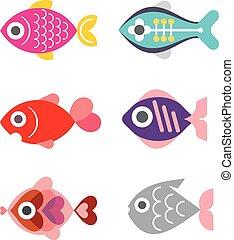 exótico, peces