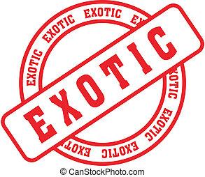 exótico, stamp2, palabra