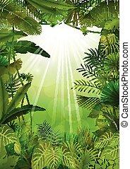 exótico, tropical, plano de fondo