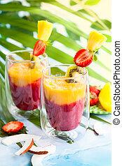 exótico, zalamero, fruta