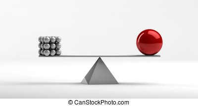 exact balance - Balance between different objects of unequal...