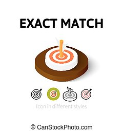 Exact match icon in different style