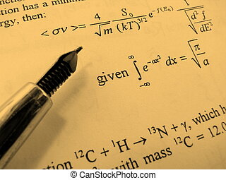 Exam - A close-up of a difficult exam paper and pen