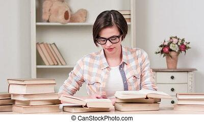 exam., avant, dur, étudier