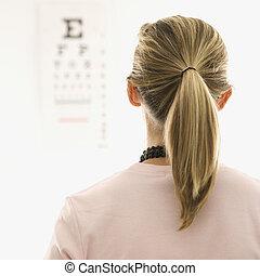 exam., patient, oeil, obtenir