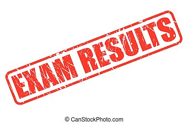 EXAM RESULTS red stamp text