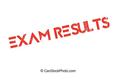 Exam Results rubber stamp