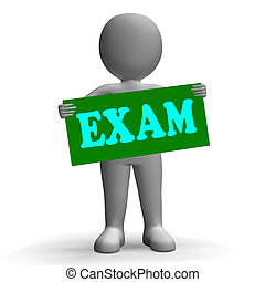 Exam Sign Character Means Examinations And Questionnaires -...