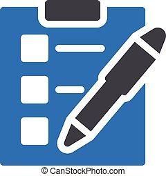 exam vector glyph colour  icon