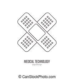 exame, gráfico, diagnóstico, conceito médico, desenho