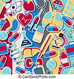 exame médico saúde, cuidado, seamless, pattern.
