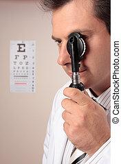 exame, vista, avaliação, visão