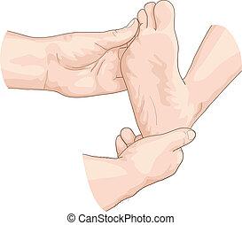examen, foot.