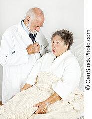 examen, hôpital, monde médical