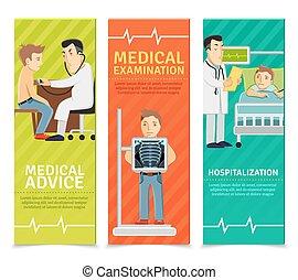 examen médical, bannières