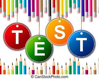 examen, medios, colegio, aprendido, educación, cuestionario