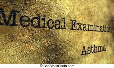 examen, monde médical, asthme