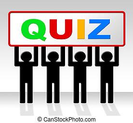 examen, svar, frågesport, indikerar, examen, ifrågasätter