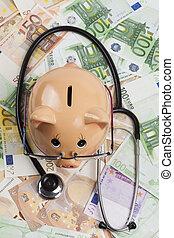 Examin Euros With Stethoscope