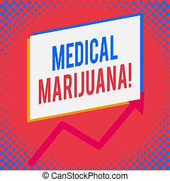 examinando, conceito, palavra, negócio, condition., marijuana., texto, médico, escrita, recomendado, tratamento
