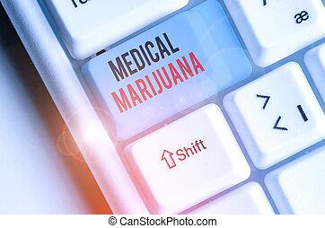 examinando, médico, escrita, marijuana., texto, palavra, recomendado, condition., tratamento, conceito, negócio
