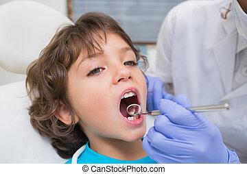 examinar, poco, dentista, dientes, niños, dentistas,...